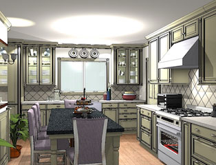 Wireframe Kitchen Design